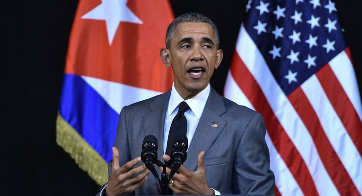 "Obama delivers a speech at the Gran Teatro de la Habana in Havana, Cuba on Tuesday. During his address to Cubans, Obama said he has come to Cuba to ""bury last remnant"" of Cold War.  (Getty)"