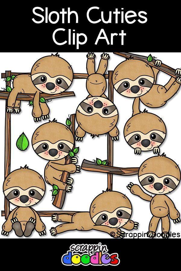 Sloth Cuties Clip Art Clip Art Sloth Cute Sloth