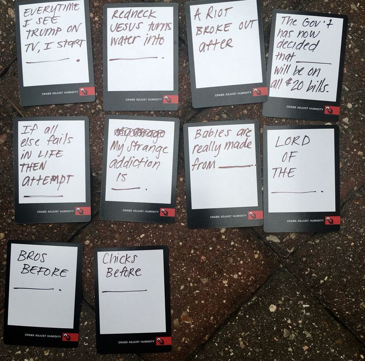 Awesome hilarious and creative ideas for blank cards in cards of humanity black cards