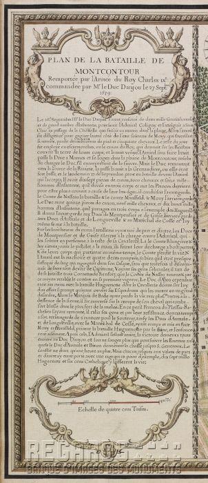 """""""Plan de bataille de Montcontour remportée par l'armée du roy Charles IXe : commandée par Mr le duc d'Anjou le 27 sept[embre] 1579"""""""