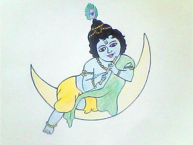 Krishna Janmashtami Kids Craft