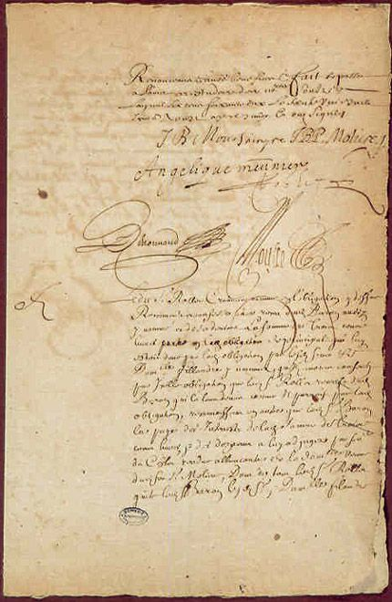 Autographe de Molière