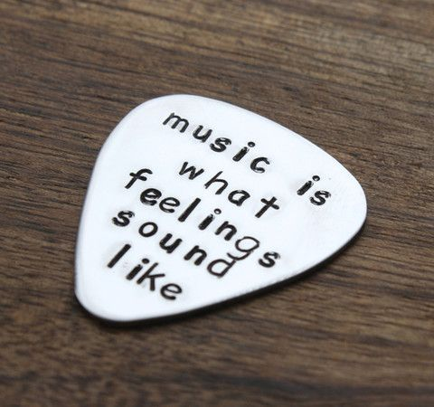 Music is what Feelings Sound Like Guitar Pick