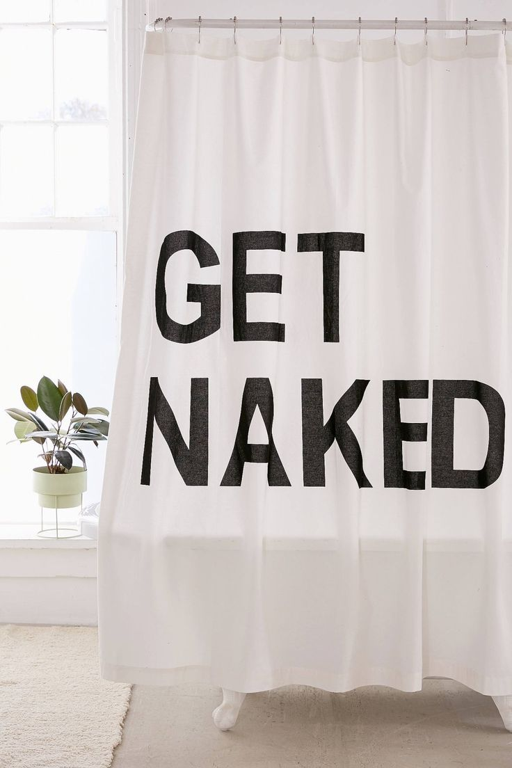 Get Naked Shower Curtain | Urban Outfitters