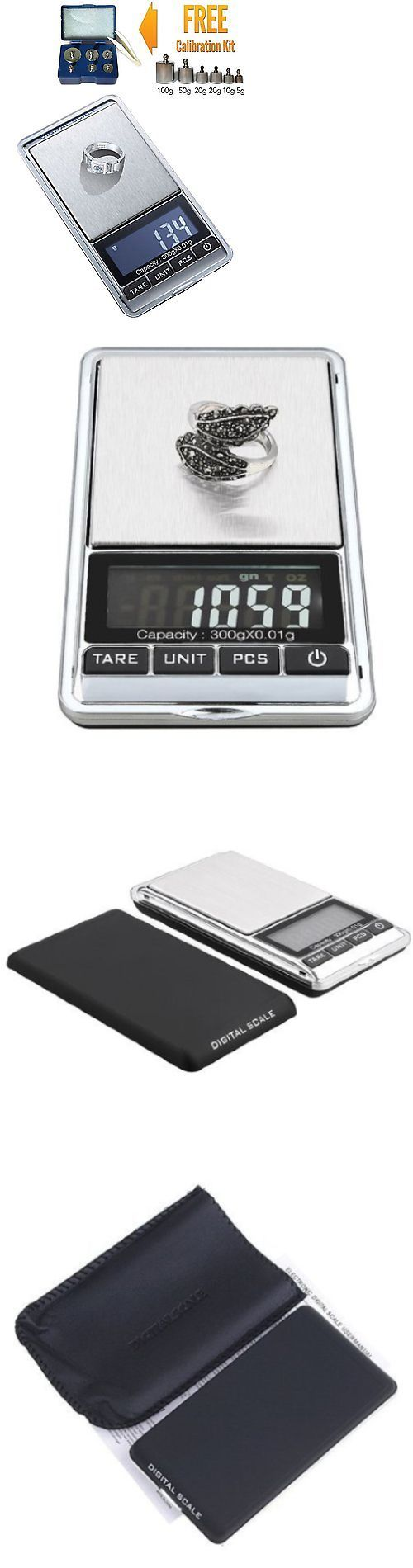 Scales 34088: 300G X 0.01G Mini Digital Jewelry Pocket Gram Scale Lcd + M2 Calibration Weight -> BUY IT NOW ONLY: $30.01 on eBay!