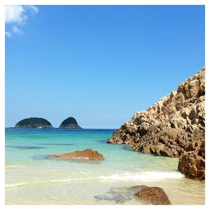 Crystal clear waters at Tai Long Wan beach in Sai Kung. Hong Kongs own paradise.
