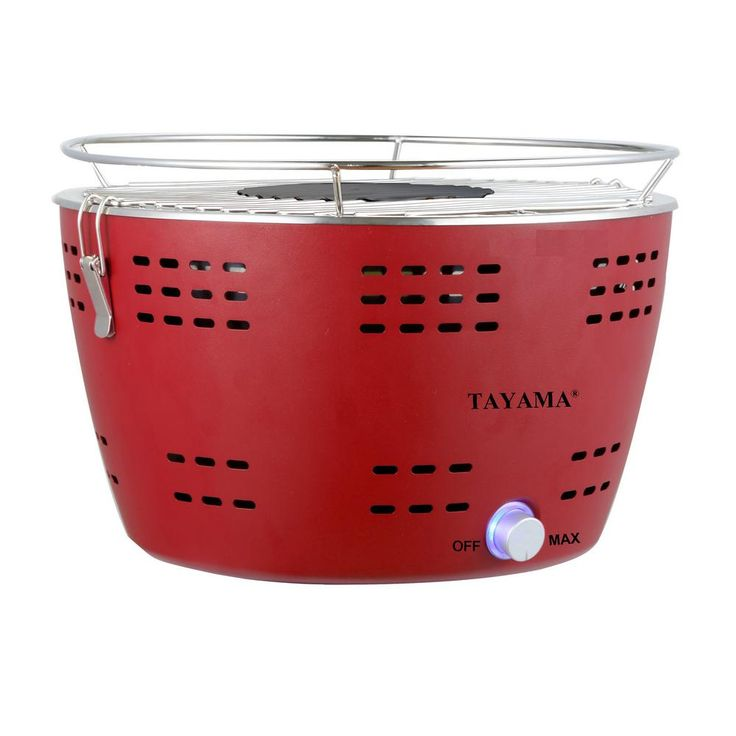 Tayama Portable Charcoal Grill in Red