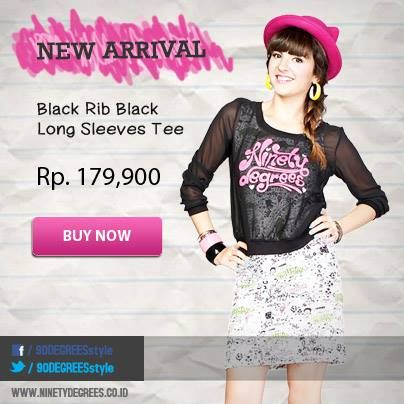NEW ARRIVAL!! Black Rib Black Long Sleeves Tee now available on online store. Click: www.ninetydegrees.co.id