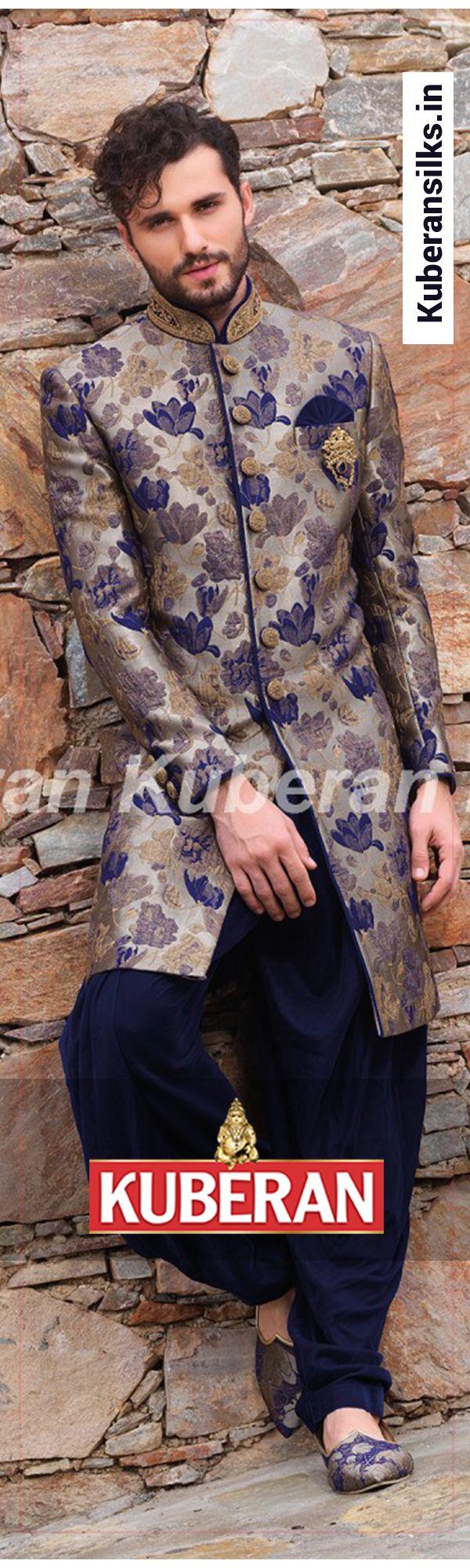 Kuberan Royal Blue Sherwani #bluesherwani #royalsherwani #kuberansherwani #lovely #weddingsherwani #menssherwani #sherwanionline #indianwear #ethnicfashion #fashion #shoponline #designersherwani