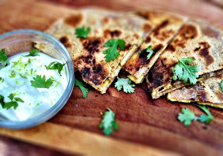 cumin-lime zucchini quesadilla - Dishing Up the Dirt