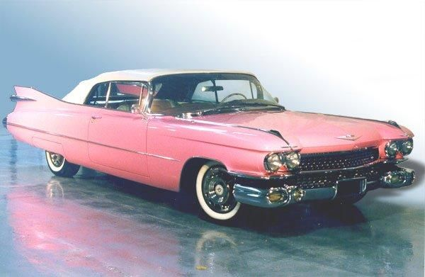 An iconic piece of 1950s' styling - the 1959 pink Cadillac Eldorado