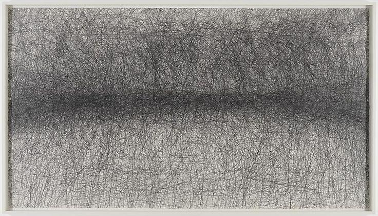 One Hour Blind Drawing, 2008, William Anastasi