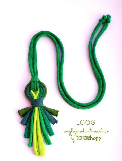 LOOG - X - medálos textilnyaklánc zöld S/S2015 cirrhopp iparművésztől