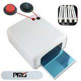 PMS 36Watt UV Lampe Lichthärtungsgerät Nail Gel Weiß Nagel-Trockner Schellac 120 Sekunden Mit Timer  4 Röhren CE