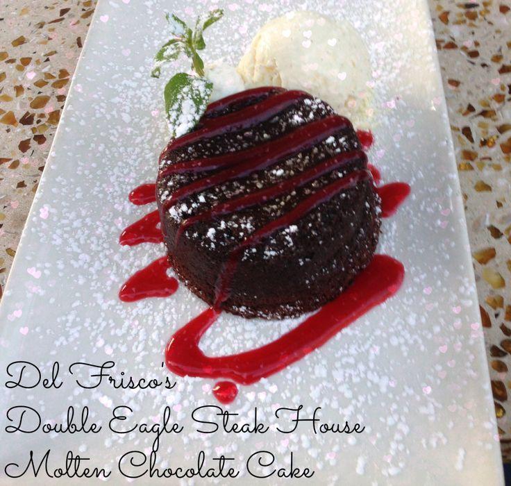Del Frisco's Double Eagle Steak House Chocolate Molten Cake #recipe