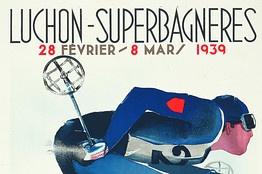 Luchon-Superbagneres vintage ski poster