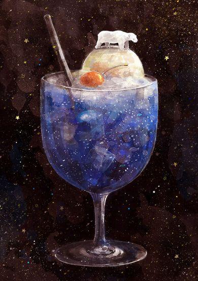 教えて! 絵師さん:しろくま、星屑、水族館――輝く青に魅せられて のみやさん - ITmedia ニュース