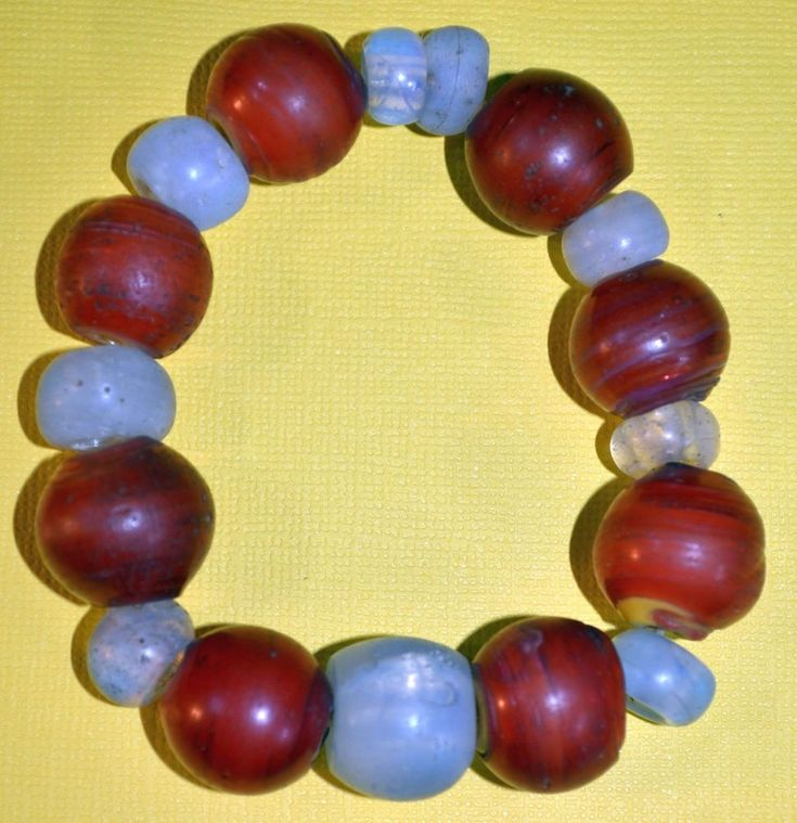 Antique Venetian Cornaline d'Aleppo Beads & European Moon Beads, African Trade