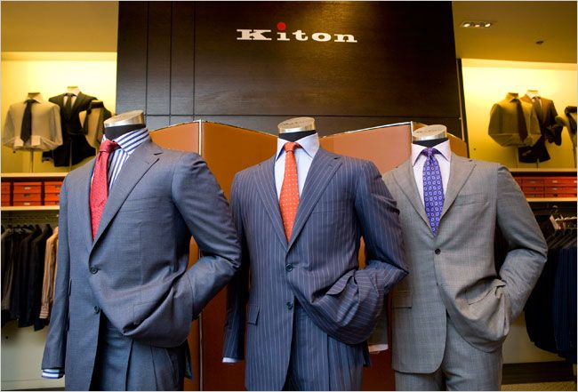 The Difference Between A $99 Suit And A $5,000 Suit, In One Graphic (Or as in the case of the photo, men can expect to pay more than $7,000 for an off-the-rack Kiton suit or as much as $21,025 for a suit that is made to order at Saks Fifth Avenue.