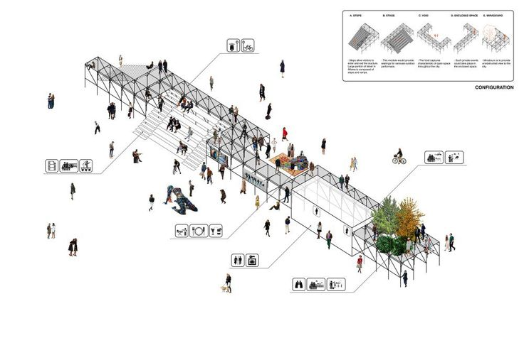 """Architecture Photography: """"Urban Platform"""" Wins First in Lisbon Open Room Competition (611969)"""