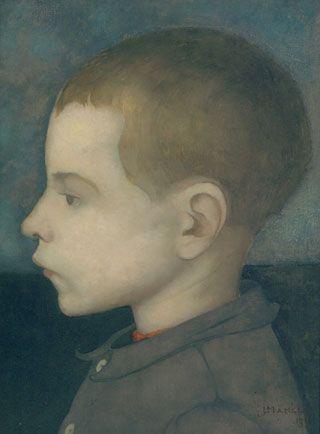 Jan Mankes (1889-1920) werd geboren in Meppel. Later woonde hij met zijn ouders in Het Meer, een buurtschap gelegen bij Heerenveen. Hier ontwikkelde hij zijn liefde voor de natuur verder en maakte hij veel van zijn beste werken. In 1916 verhuisde hij naar Eerbeek omdat z'n ouders dachten dat die bosrijke omgeving goed zou zijn voor hem, hij lag veel in bed; wanneer het iets beter ging werkte hij onafgebroken. In 1920 overleed hij aan tbc, toen hij 30 jaar oud was. Jongensportret, 1915