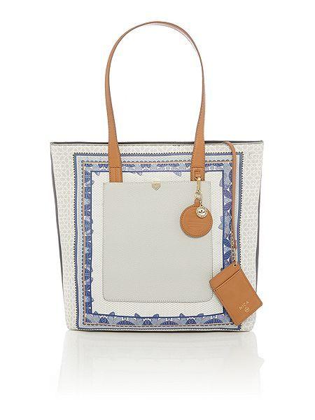 Laila large multi coloured tote bag