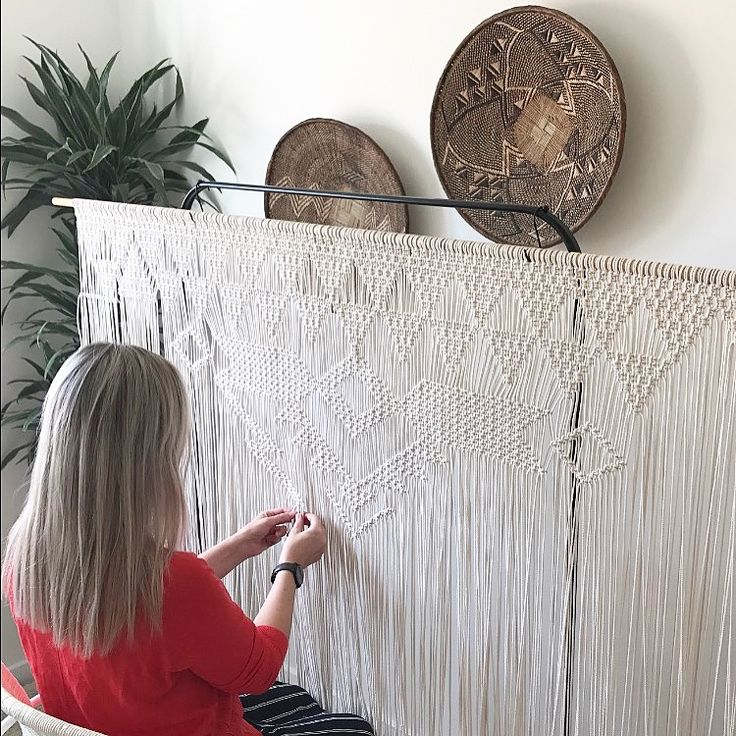 Working on a wedding backdrop! by Macrame Adventure