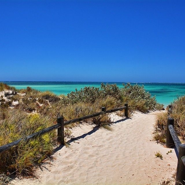 The pathway to paradise… this sandy walkway leads to the dazzling Turquoise Bay, found near the town of Exmouth in western Australia.