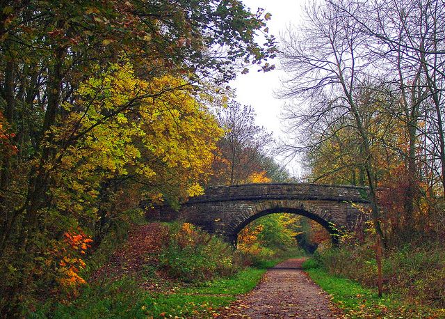 The Monsal Trail Derbyshire UK