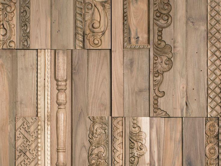Indoor wooden 3D Wall Cladding PHOENIX by Wonderwall Studios