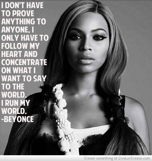 Beyoncé's not afraid to be herself - a lesson I should learn