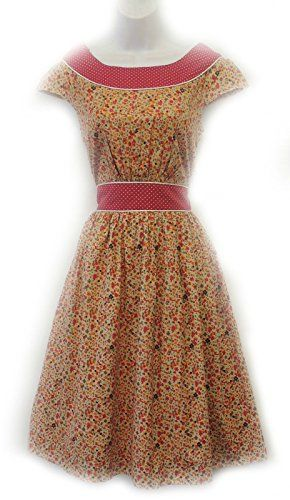 Retro 1940's style Ditsy Floral Polka Dot Land Girl Victory Cotton Tea Dress De-Branded http://www.amazon.co.uk/dp/B00NQAIVX4/ref=cm_sw_r_pi_dp_jiXjub0WTY7M1