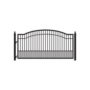 Biscayne 12 Ft W X 5 Ft H 6 In Powder Coated Steel Single Driveway Fence Gate Metal Driveway Gates Driveway Gate Automatic Gates Driveways