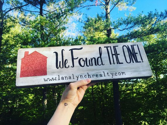 This listing is for ONE custom hand painted wood sign! Customizable for names or quotes, please contact prior to ordering to make sure desired quote is possible/will fit on the board. Signs are roughly 18 x 5.5  Price is for ONE side of sign painted, other side can be painted for an additional $5, please see painted back - realtor sign add-on and purchase with this listing if you wish to have two sides painted. https://www.etsy.com/listing/477626552/add-a-back-to...