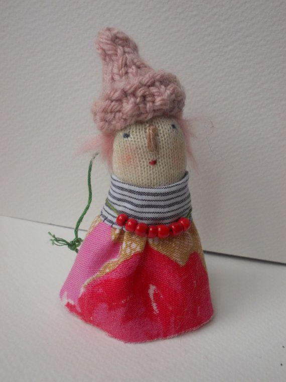 Little folk Pebble Art doll decoration by maidolls on Etsy, £16.00