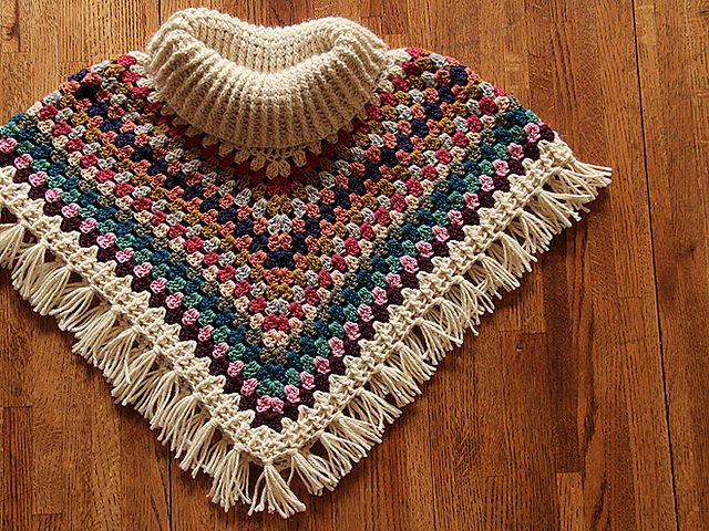 Ravelry: AliciaPaulson's Cowl Neck Poncho                                                                                                                                                                                 More