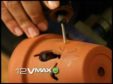Cutting Terra Cotta Lumniaries: Dremel 8200 - YouTube