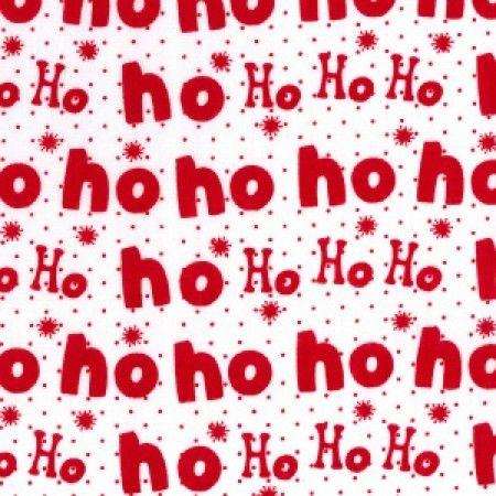 Ho Ho Ho Christmas Polycotton