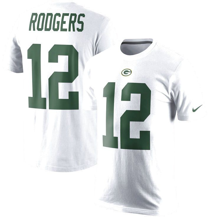 Aaron Rodgers Green Bay Packers Nike Color Rush Player Pride Name & Number T-Shirt - White - $31.99