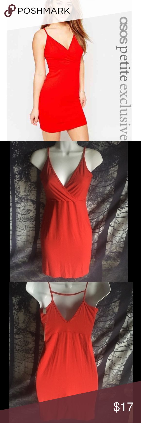 Asos red dress NWT US 4 (petite) New with tags #red #reddress #asos #asospetite #petite #asosdress #us4 #small #smalldress #newdress #newwithtags #nwtdress #nwt ASOS Petite Dresses Mini