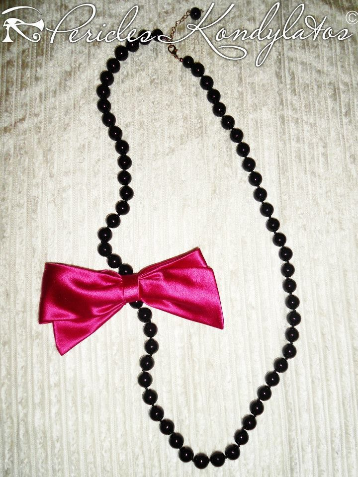 """Spring """"Bows & Pearls"""" collection by Pericles Kondylatos available @ Vassilis Zoulias boutique Akadimias 4 Athens."""
