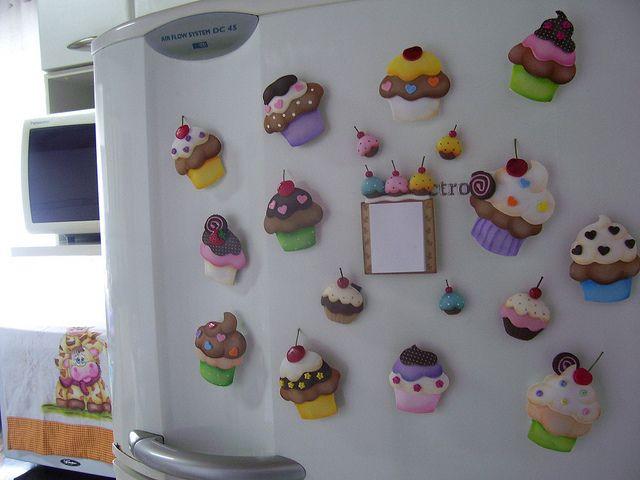 Cupcake Magnets | Flickr: Intercambio de fotosIdea  Idea