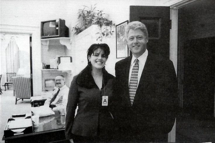 Was this photo taken before or after the infamous Clinton Lewinsky jiggery pokery???