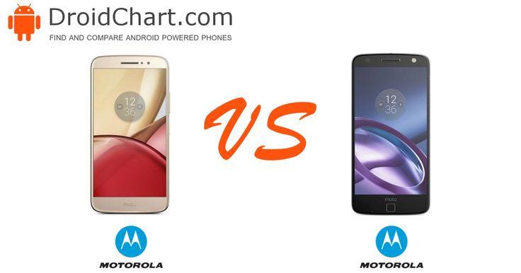 The side-by-side comparison of the Motorola Moto M and Moto Z smartphones. #smartphones #comparison #MotorolaMotoM #MotorolaMotoZ