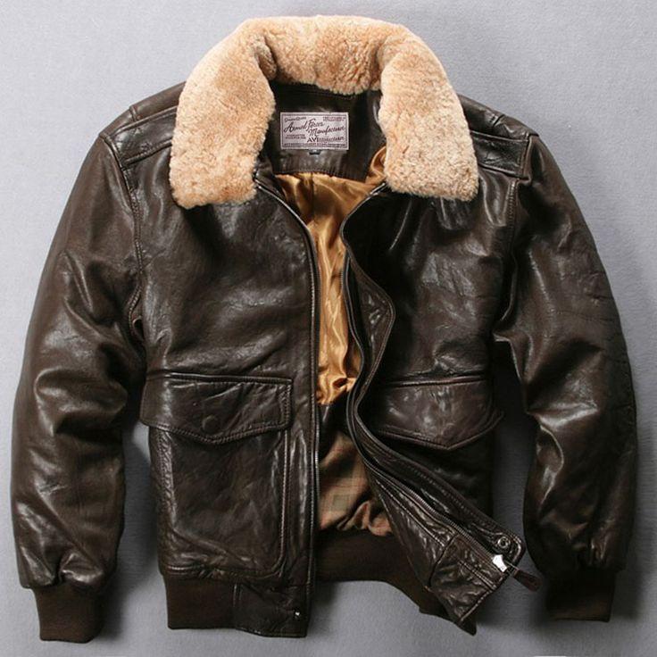 Avirexmen vuelo de la fuerza aérea chaqueta de cuello de piel chaqueta de cuero genuino de los hombres negro marrón de piel de oveja abrigo de invierno bombardero chaqueta masculina en Abrigos cuero auténtico de Ropa y Accesorios en AliExpress.com | Alibaba Group