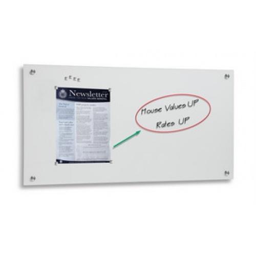 White Magnetic Glassboard 2400 x 1200