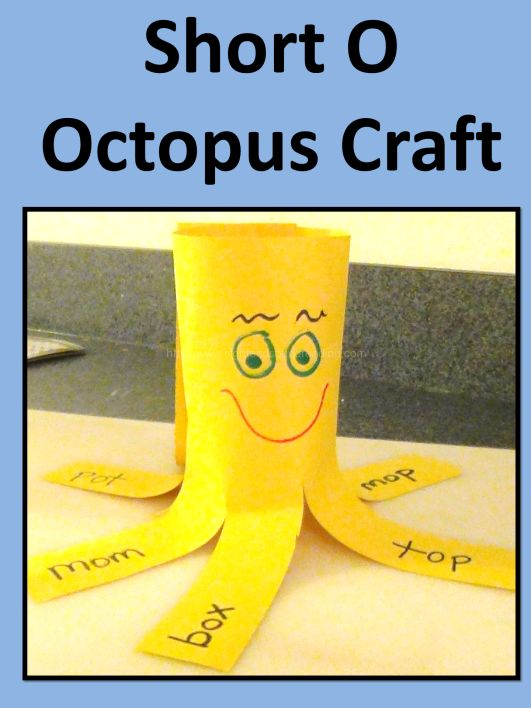 Craft to teach the short o sound.  We also give modifications to help special needs students.  Great for homeschool, preschool, kindergarten and special needs.  More resources can be found at http://www.sightandsoundreading.com.  #education #kids
