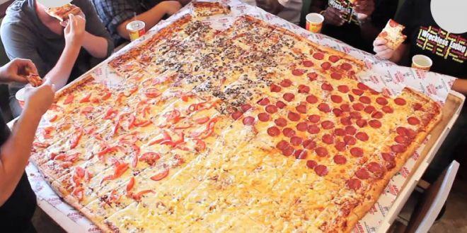 Super pizza da 16 porzioni: a Los Angeles nella catena Big Mama's