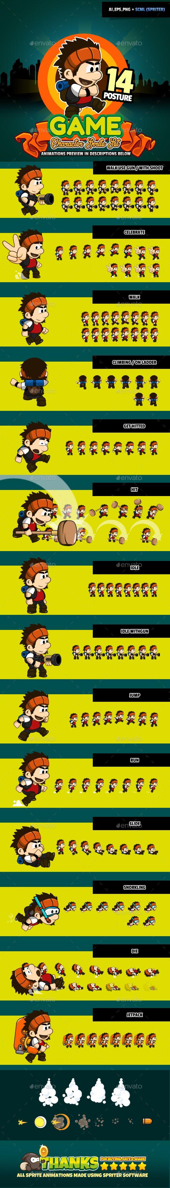 Character Set v05 | Download: https://graphicriver.net/item/character-set-v05/18041117?ref=sinzo #Sprites #Game #Assets