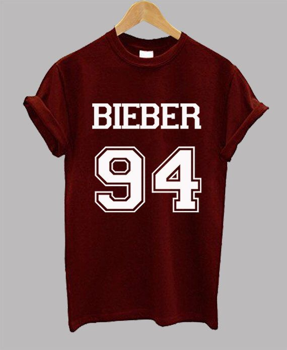 BIEBER 94 - Justin Bieber Shirt - Unisex Adult Black White Gray Maroon T Shirt - Tumblr Inspired by Teeinspired on Etsy https://www.etsy.com/listing/248770538/bieber-94-justin-bieber-shirt-unisex